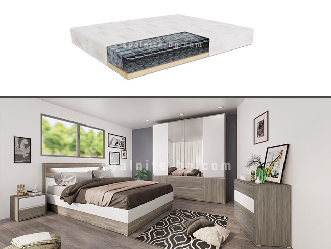 Спален комплект City 7009 с еднолицев матрак на супер цени